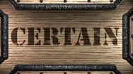 Certain on wooden stamp Stock Footage