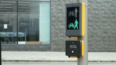 Pedestrian Traffic Light Signal Stock Footage