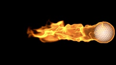 db golfball 09 hd1080 on fire - stock footage