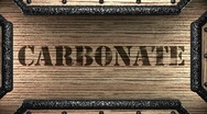 Carbonate on wooden stamp Stock Footage