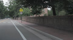 Stock Footage William and Mary College - Driving - stock footage