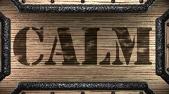 Calm on wooden stamp Stock Footage