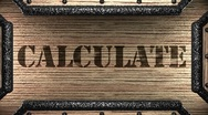 Calculate on wooden stamp Stock Footage