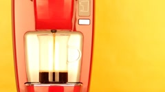 Red coffee machine Stock Footage