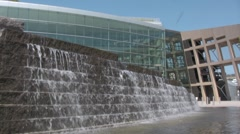 Time laps waterfal office building - stock footage