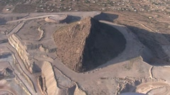 Aerial view of strip mining in Tucson, Arizona (HD) c Stock Footage