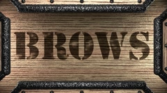 Brows on wooden stamp Stock Footage