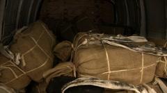Van delivering drugs to DEA Marijuana holding facility (HD) c Stock Footage