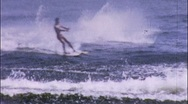 Stock Video Footage of HIGH JUMPER Water Ski Show 1950 (Vintage Film 8mm Home Movie) 563