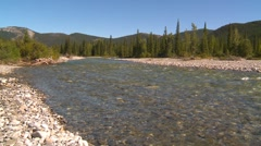 Nature, Elbow river and cobble wide Stock Footage