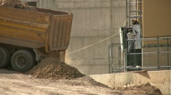 Sand Truck Stock Footage