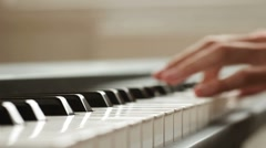 Grand Piano Keyboard Stock Footage