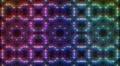LED Light Kaleidoscope W2BoK1 HD HD Footage