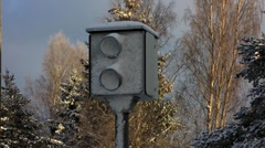 Scandinavia Finland speed control camera Stock Footage