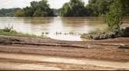 Stock Video Footage of Muddy Road After Receded Flood Waters