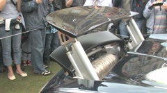 Bugatti Veyron revs Stock Footage