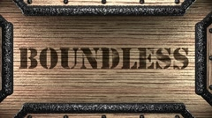 boundless on wooden stamp - stock footage