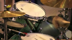 Stock Video Footage of Playing drummer