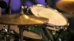 Playing drummer Stock Footage