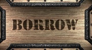 Stock Video Footage of borrow on wooden stamp