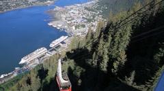 Juneau, sky tram Stock Footage