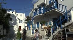 Greek Island Village Stock Footage