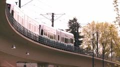 Seattle Lite Rail Stock Footage