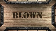 Blown on wooden stamp Stock Footage