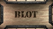 Blot on wooden stamp Stock Footage