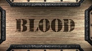 Blood on wooden stamp Stock Footage