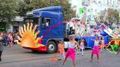 Carnival in city Stock Footage