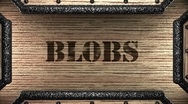 Blobs on wooden stamp Stock Footage
