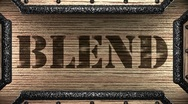 Blend on wooden stamp Stock Footage