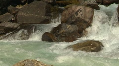 Nature, whitewater Kicking Horse River long shot, Stock Footage