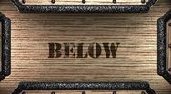 Stock Video Footage of below on wooden stamp