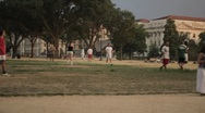 Stock Footage - National Mall Park - Soccer Game Stock Footage