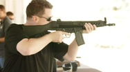Stock Video Footage of Full auto machine gun