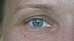 Women eye 1 Stock Footage