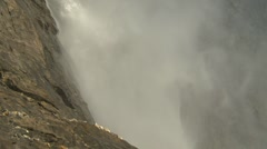 Nature, Takakkaw Falls from base close up, extreme angle Stock Footage