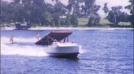 Stock Video Footage of JUMP TURN LAND! Water Ski Show 1950 (Vintage 8mm Home Movie Footage) 565