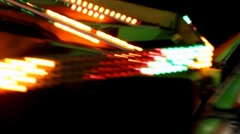 Colorful Amusement Fair Ride Stock Footage