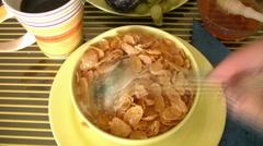 Healthy breakfast - stock footage