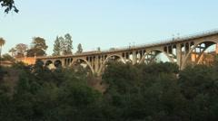 Colorado Bridge Pan Stock Footage