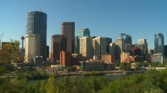 "Calgary Skyline looking SW featuring the nearly complete ""Bow"" building Stock Footage"