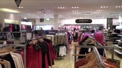 Drapery Store 1 Stock Footage