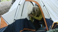 Camping tent Stock Footage