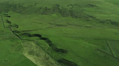 Aerial View of Agricultural Grazing Land, Arctic Region Stock Footage