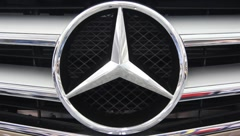 Mercedes-Benz emblem - stock footage