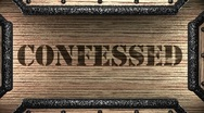 Stock Video Footage of confessed on wooden stamp