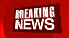 Breaking News 3D Text HD - stock footage